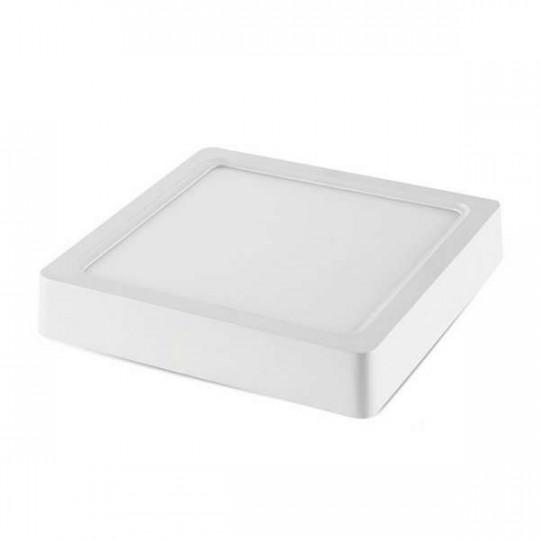 Plafonnier de surface LED 18W carré 220mmx220mm - Blanc Naturel 4500K