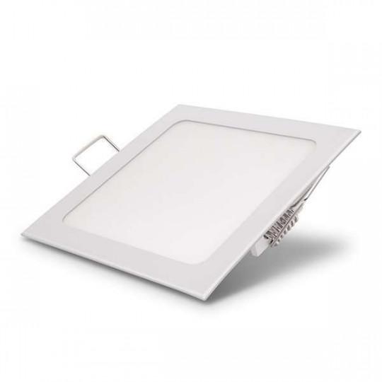 Downlight LED 12W carré 166mmx166mm - Blanc du Jour 6000K