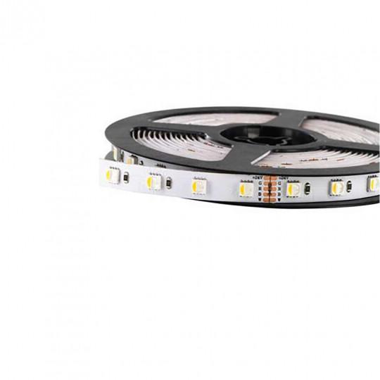 Ruban LED RGB+W 96 LED/m 27W/m IP65 étanche 5m