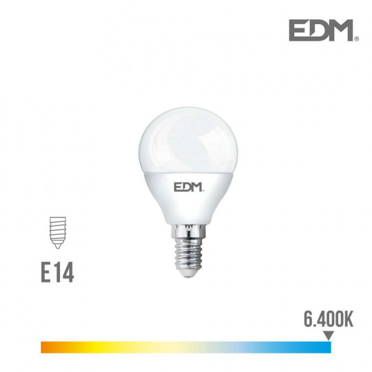 Ampoule LED E14 6W Ronde équivalent à 40W - Blanc du Jour 6400K