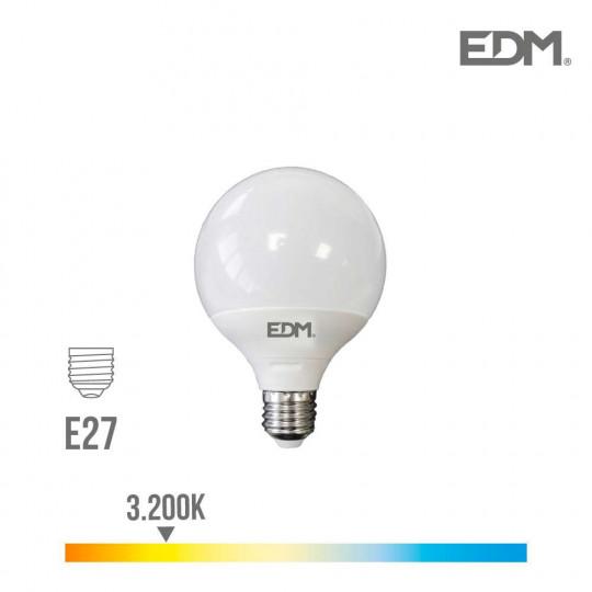 Ampoule LED E27 10W Globe G100 équivalent à 60W - Blanc Chaud 3200K