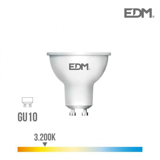 Spot LED GU10 7W Dicroïque équivalent à 50W - Blanc Chaud 3200K