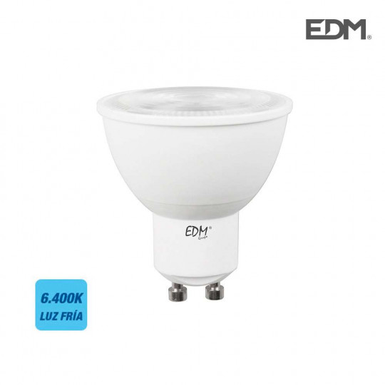Spot LED GU10 7W Dicroïque équivalent à 50W - Blanc du Jour 6400K
