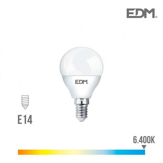 Ampoule LED E14 7W Ronde équivalent à 48W - Blanc du Jour 6400K