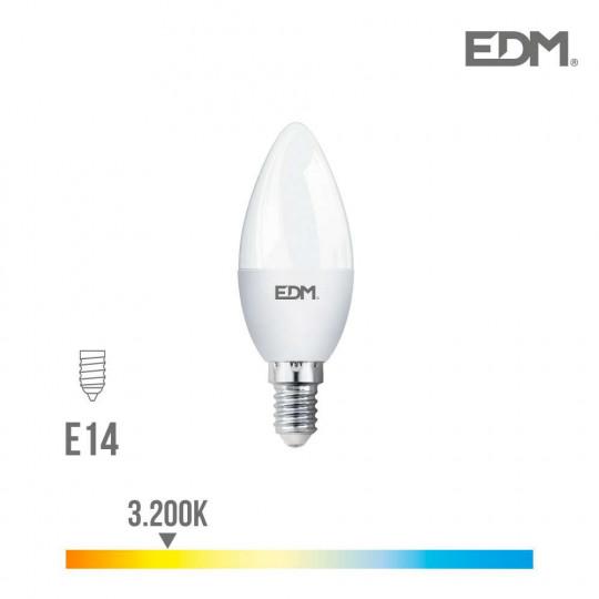 Ampoule LED E14 7W Bougie équivalent à 48W - Blanc Chaud 3200K