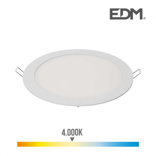 Downlight LED 20W rond ∅22,5cm Blanc - Blanc Naturel 4000K