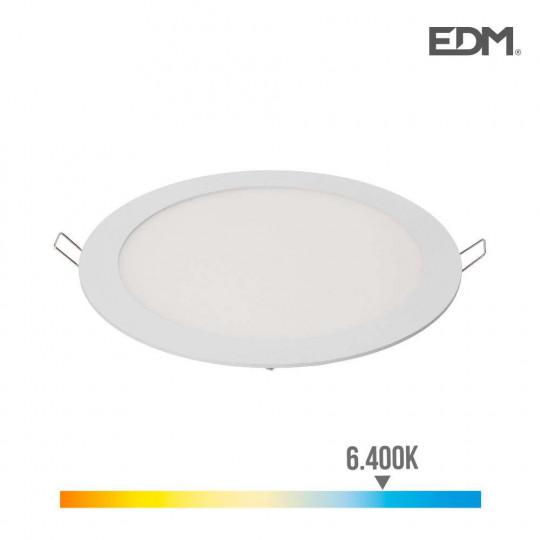 Downlight LED 20W rond ∅22,5cm Blanc - Blanc du Jour 6400K