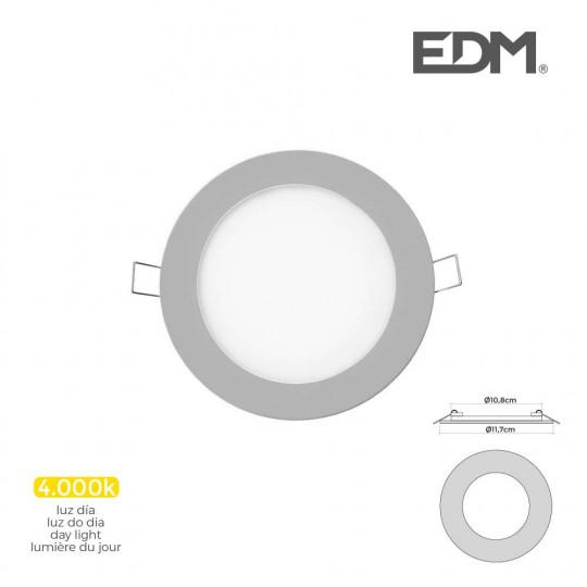 Downlight LED 6W rond ∅11,7cm Chromé - Blanc Naturel 4000K