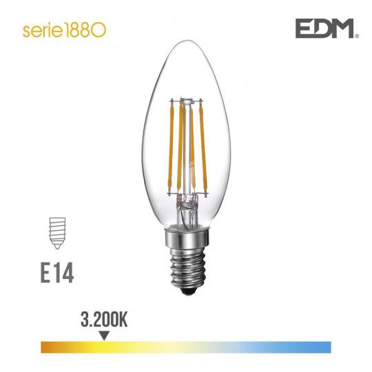 Ampoule LED E14 4W Bougie équivalent à 25W - Blanc Chaud 3200K