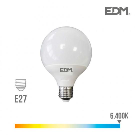 Ampoule LED E27 15W Globe G120 équivalent à 100W - Blanc du Jour 6400K