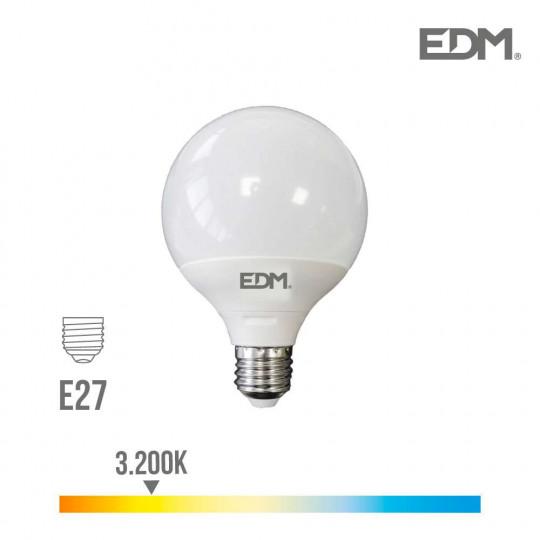 Ampoule LED E27 15W Globe G120 équivalent à 100W - Blanc Chaud 3200K