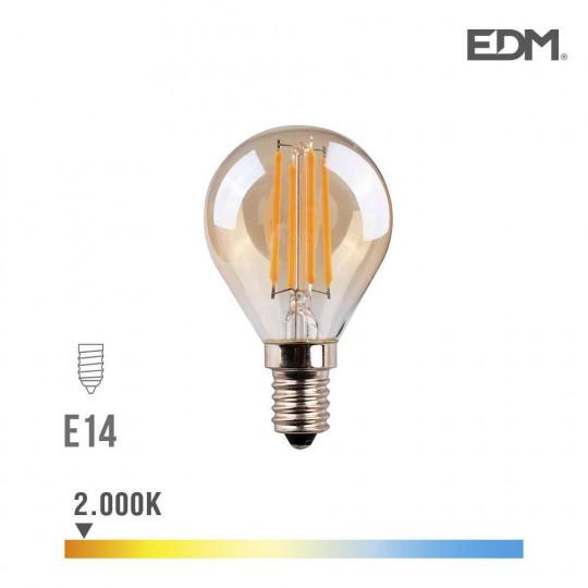 Ampoule LED E14 4,5W Ronde équivalent à 30W - Blanc Chaud 2000K