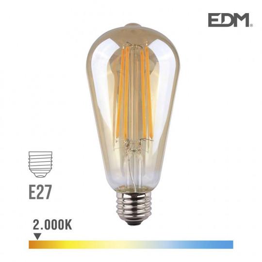 Ampoule LED E27 6W équivalent à 45W - Blanc Chaud 2000K