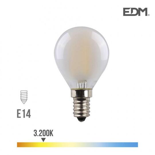 Ampoule LED E14 4,5W Ronde équivalent à 30W - Blanc Chaud 3200K