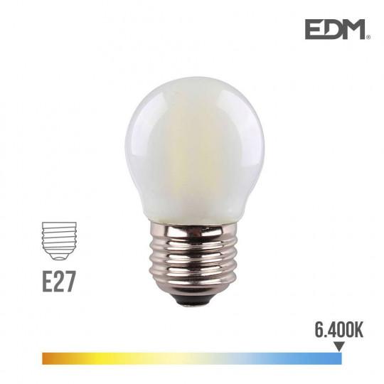 Ampoule LED E27 4,5W Ronde équivalent à 30W - Blanc du Jour 6400K