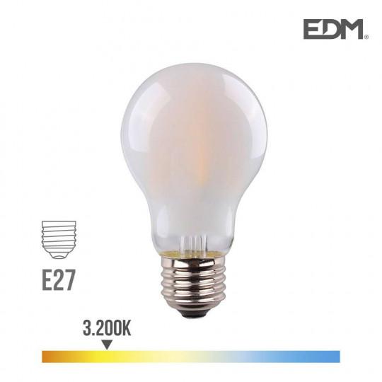 Ampoule LED E27 6W Ronde A45 équivalent à 45W - Blanc Chaud 3200K
