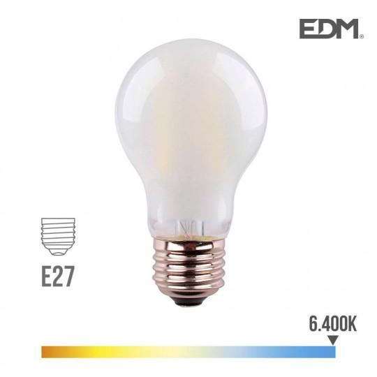 Ampoule LED E27 6W Ronde A45 équivalent à 45W - Blanc du Jour 6400K