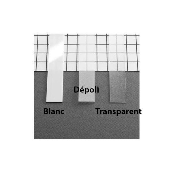 Diffuseur transparent 15,4mm longueur 2000mm