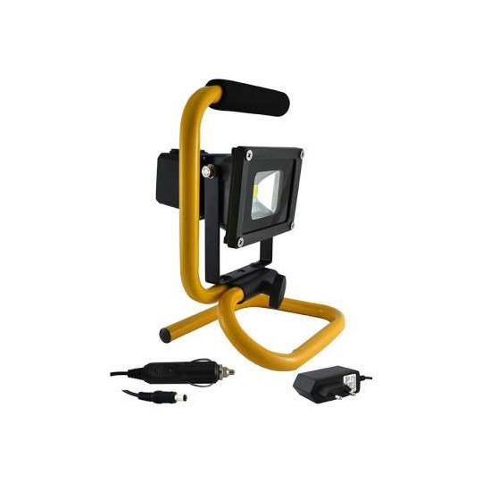 Projecteur Portable LED 10W avec Batterie - Blanc du Jour 6000K