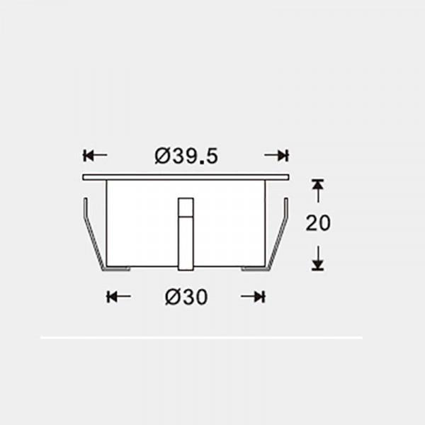 Mini spot LED encastrable 1W