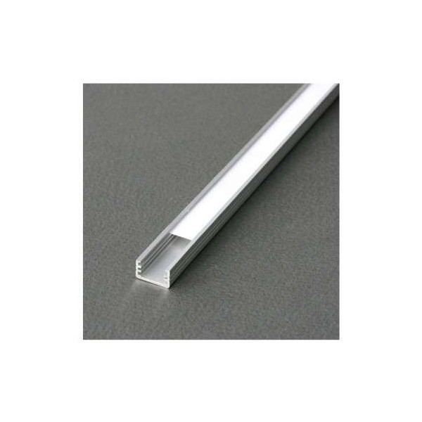 Profilé Fin Aluminium Brut 2m pour Ruban LED 8mm