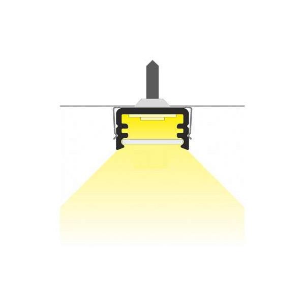 Profilé Fin Aluminium Anodisé 2m pour Ruban LED 8mm