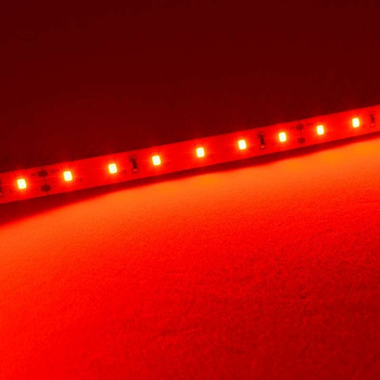 Ruban LED puissant 60LED/m 5m 13W/m Rouge 5m