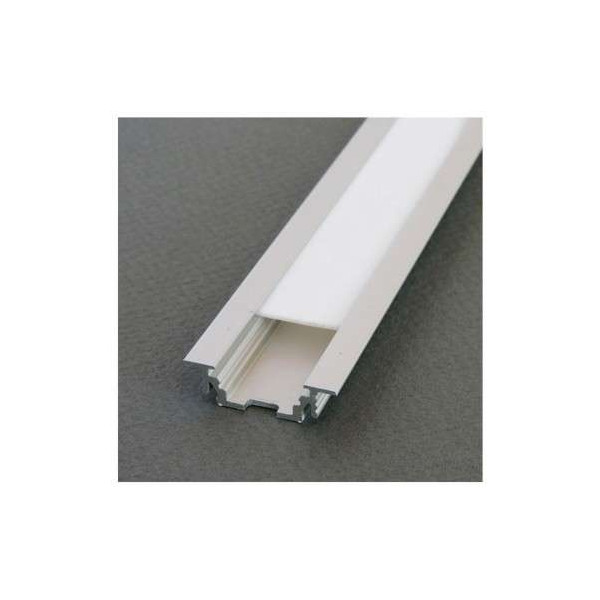 Profilé Rainure Aluminium Brut 2m pour Ruban LED 10mm