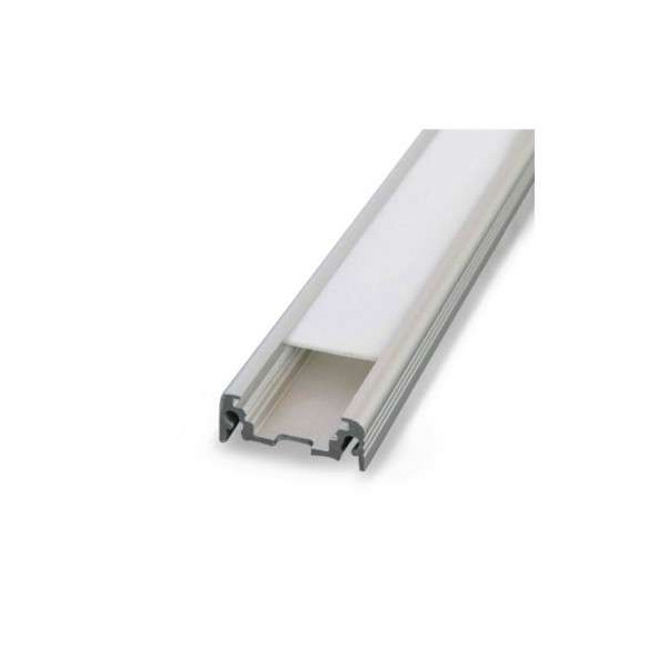 Profilé Plat Aluminium Brut 2m pour Ruban LED 10mm