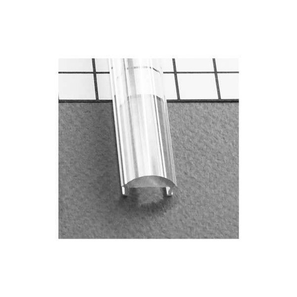 Diffuseur transparent 2m Lentille 60° pour Profilé LED 15,4mm