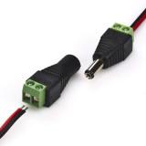 Connecteur jack mâle / femelle pour ruban LED