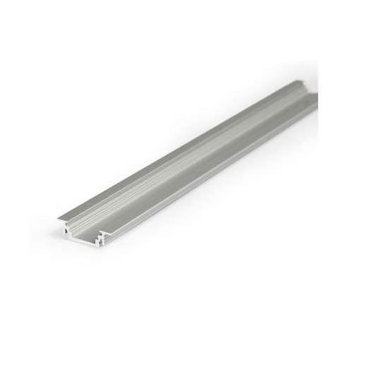 Profilé Rainure Aluminium Anodisé 1m pour Ruban LED 14,4mm