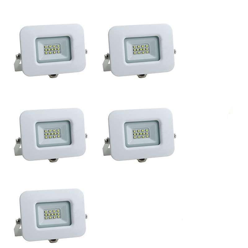 Lot de 5 Projecteurs LED 10W (60W)...