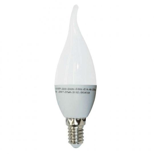 Ampoule LED E14 4W Flamme Coup de Vent Équivalent 30W - Blanc Chaud 2700K