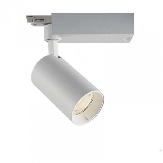 Spot LED Rail 25W COB Blanc 24° 2750lm Triphasé - Blanc Chaud 3000K