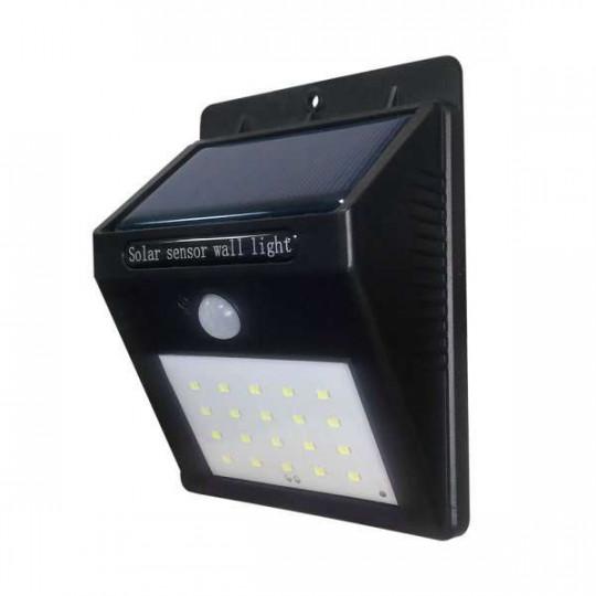 Projecteur LED Solaire Mural Noir 0,75W 110lm Blanc Jour 6000K