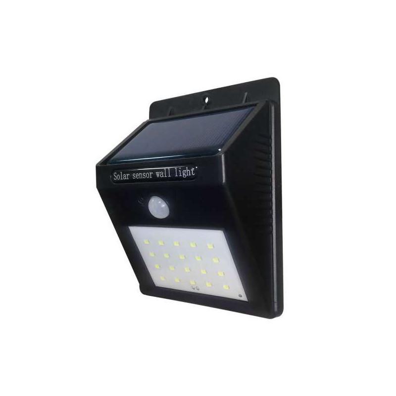 Projecteur LED Solaire Mural Noir...