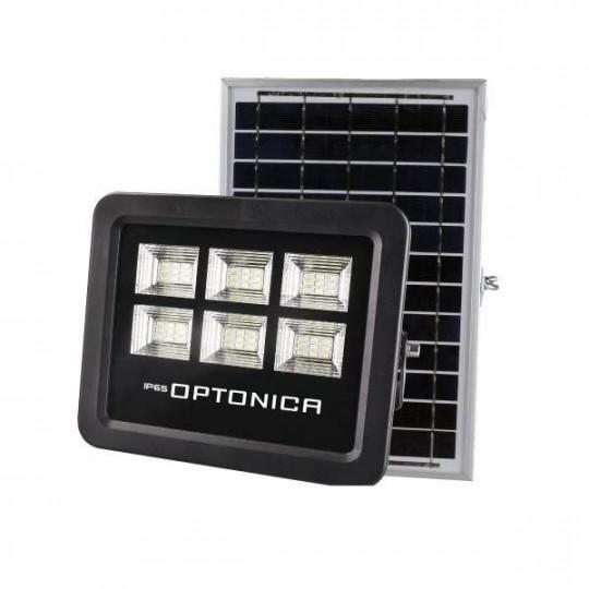 Projecteur LED Solaire Noir Équivalent 50W 800lm Blanc Jour 6000K