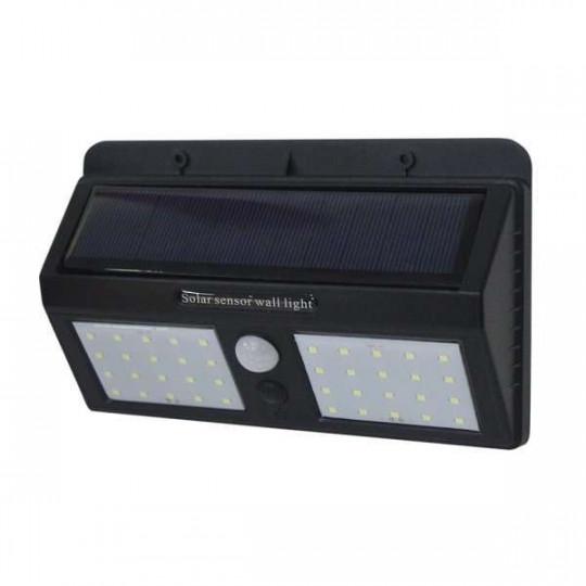 Projecteur LED Solaire Mural Noir 1,5W 220lm Blanc Jour 6000K