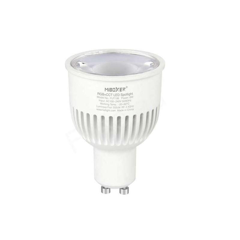 Spot LED RGB+CCT GU10 6W pilotable...