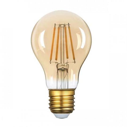 Ampoule LED A60 Filament 8W Golden Glass Dimmable E27 Blanc Très Chaud 2500K