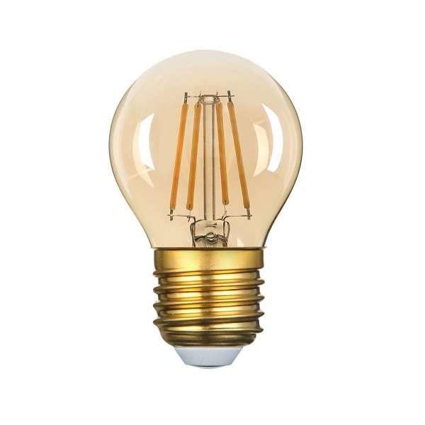Ampoule LED G45 Filament 4W Golden Glass Dimmable E27 Blanc Très Chaud 2500K