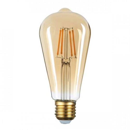 Ampoule LED ST64 Filament 8W Golden Glass Dimmable E27 Blanc Très Chaud 2500K
