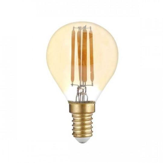 Ampoule LED G45 Filament 4W Golden Glass Dimmable E14 Blanc Très Chaud 2500K