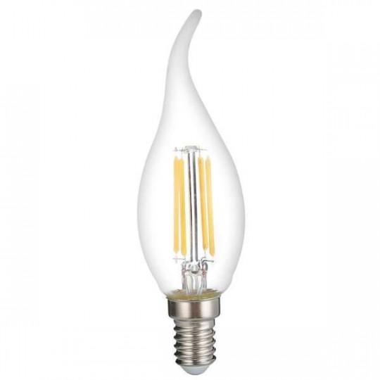 Ampoule LED C35 Flamme Coup de Vent Filament 4W Dimmable E14 Blanc Chaud 2700K