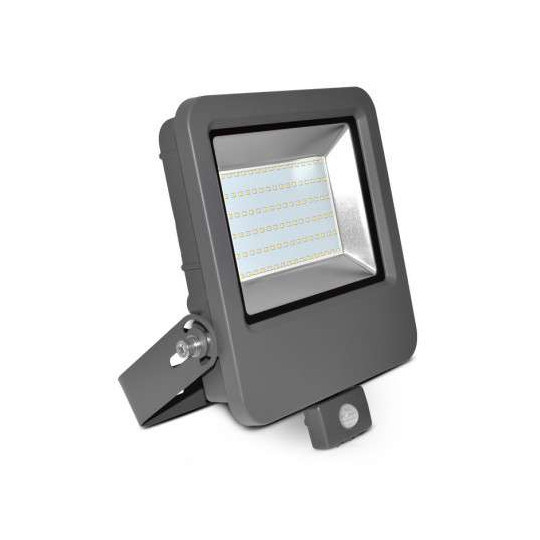 Projecteur LED 80W à Détecteur Gris IP65 8800lm Blanc Chaud 3000K