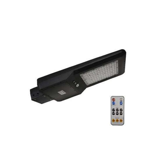 Tête de Lampadaire LED Solaire 40W Noire avec Détecteur IR