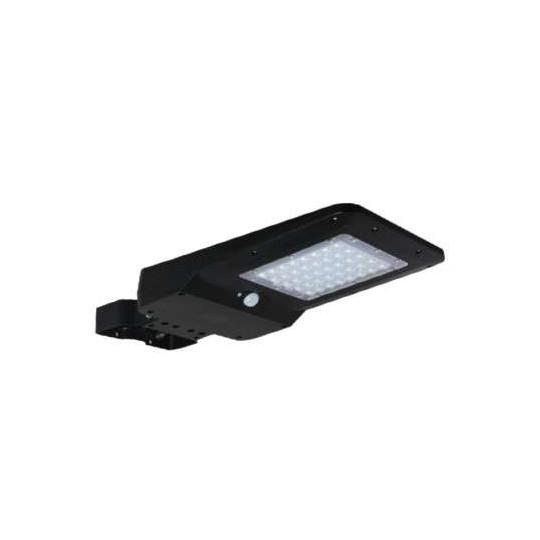 Tête de Lampadaire LED Solaire 15W Noire avec Détecteur IR