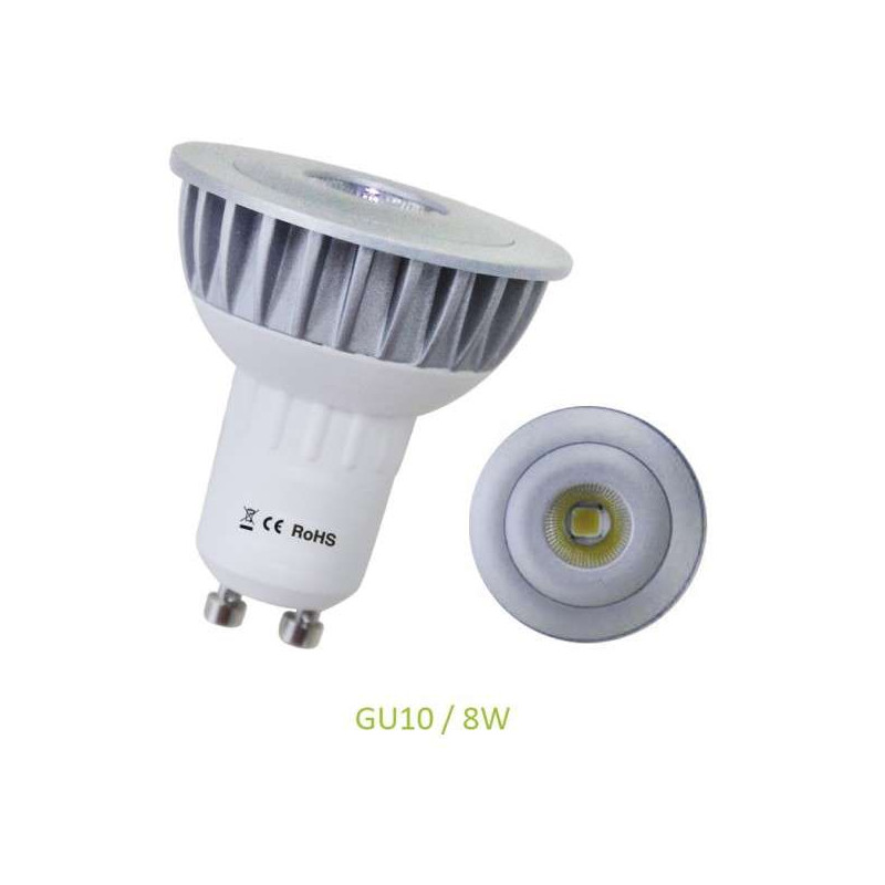 Spot LED GU10 8W équivalent 60W Dichroïque Cobra