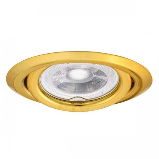 Support Spot Encastrable Rond Orientable 15° ARGUS Or